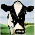 A Closer Look Cow Wall/Desk Clock