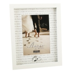 Amore Cream Wedding Rings Photo Frame