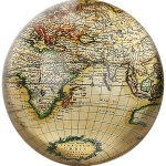 Antique Cartography Paperweight