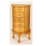 Mele and Co Light Wood Freestanding Jewellery Armoire