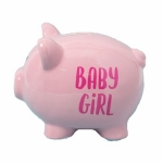 Baby Girl Piggy Bank