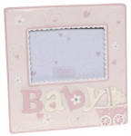 "Baby Girl Pram 5"" x 3"" Photo Frame"