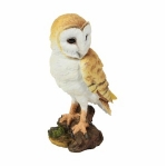 Barn Owl on a Stump Ornament