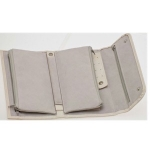 Beige Rectangular Jewellery Roll