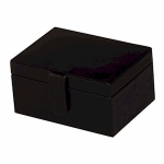 Black Bonded Leather Diana Jewellery Box