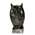 Black Owl on a Base Ornament