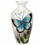 Blue Butterfly Urn Vase