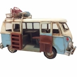 Blue Campervan Metal Model with Open Door