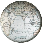 Blue Cartography Paperweight