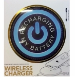 Blue Charging my Battery Wireless Phone Charger for QI Phones