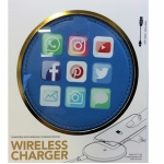 Blue Icons Wireless Phone Charger for QI Phones