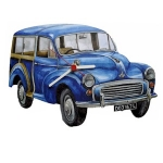 Blue Morris 1000 Traveller Clock