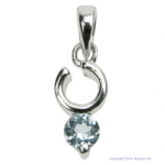 Blue Topaz Ring Pendant
