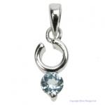 Blue Topaz Ring Pendant