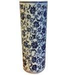 Blue and White Flower Ceramic Umbrella Stand