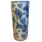 Blue and White Floral Display Ceramic Umbrella Stand