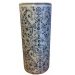 Blue and White Floral Paisley Design Ceramic Umbrella Stand