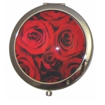 Boutique Compact Mirror Red Rose