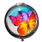 Boutique Compact Mirror Butterfly