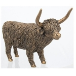 Bronze Large Highland Cow Ornament
