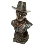 Bronze Screen Legend John Wayne Bust Figurine
