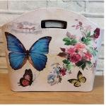 Butterflies Tidy Bag / Magazine Storage