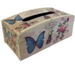 Butterfly Wooden Tissue Box