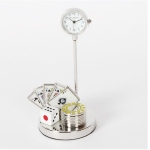 Card, Dice and Chips Miniature Clock