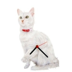 White Cat Clock
