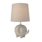 Village at Home Ceramic Grey Elephant Table Lamp