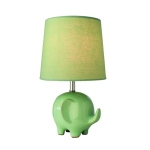 Village at Home Ceramic Mint Green Elephant Table Lamp