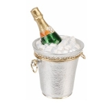 Champagne Bottle in Ice Bucket Trinket Box