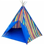 Children's Blue Stripe Tent / Teepee