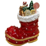 Christmas Boot Stocking Trinket Box