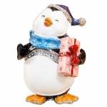 Christmas Penguin Trinket Box