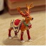 Christmas Reindeer Trinket Box