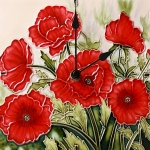 Classic Poppies Wall/Desk Clock