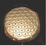 Compact Mirror White Diamond Pattern