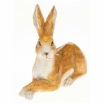 Country Lying Hare Ornament