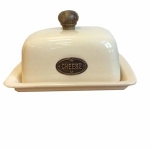 County Kitchen Cream Ceramic Cheese Dish