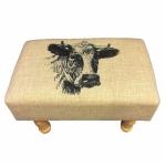 Cow Rectangular Footstool