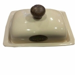 County Kitchen Cream Ceramic Butter Dish