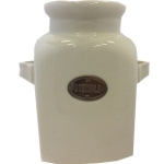 County Kitchen Cream Ceramic Utensil Jar