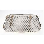 Cream Woven Handbag
