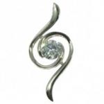 Cubic Zirconia Whirlwind Pendant