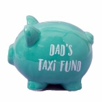 Dad's Taxi Fund Piggy Bank