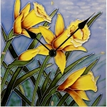 Daffodil Bloom Wall/Desk Clock