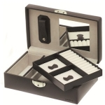 Dark Grey Small Rectangular Lockable Jewellery Box