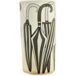 Dark Grey and White Ceramic Umbrella Stand