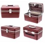 Dark Red Rectangular Lockable Vanity Case